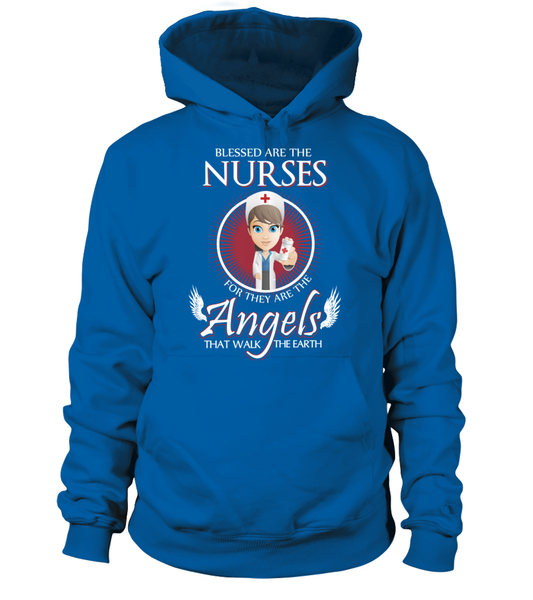 Nurses Are The Angels That Walk The Earth Shirt - Giggle Rich - 5