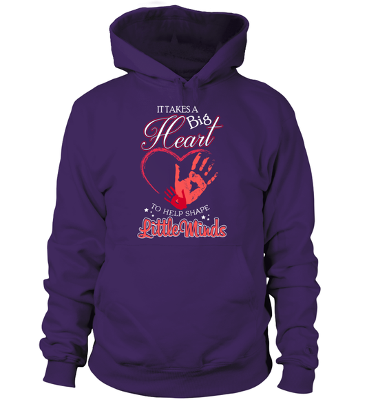 It Takes Big Heart To Help Shape Little Minds Shirt - Giggle Rich - 14