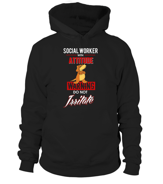Social Worker With Attitude Shirt - Giggle Rich - 1