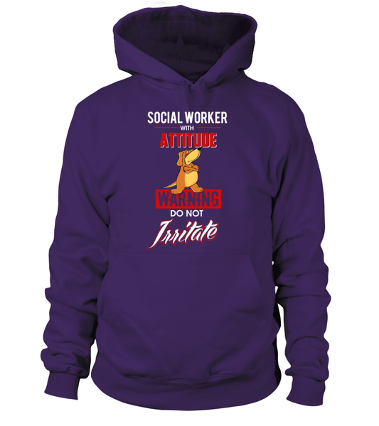 Social Worker With Attitude Shirt - Giggle Rich - 3