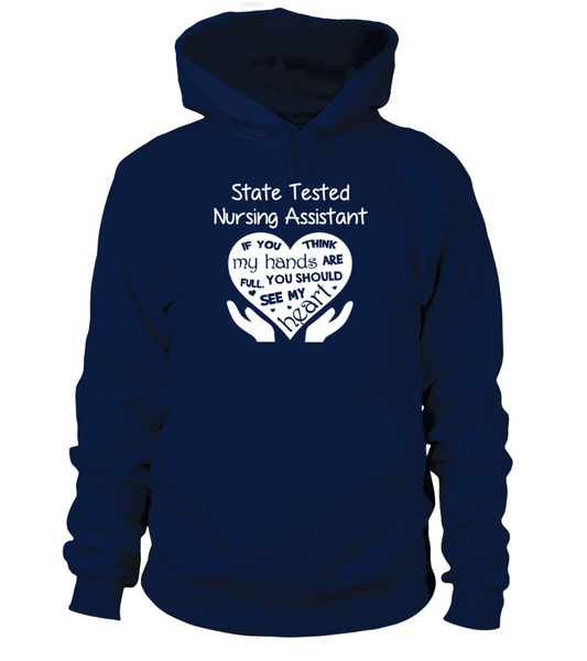 State Tested Nursing Assistant Heart Shirt - Giggle Rich - 16