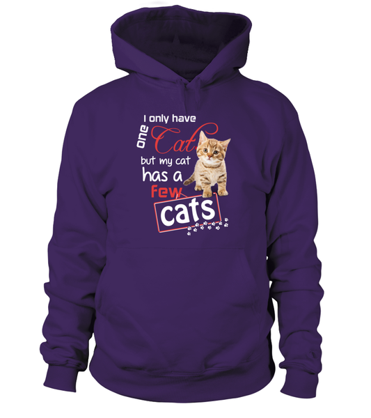 I Only Have One Cat Shirt - Giggle Rich - 4