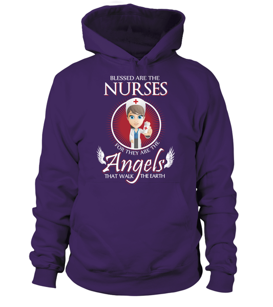 Nurses Are The Angels That Walk The Earth Shirt - Giggle Rich - 4