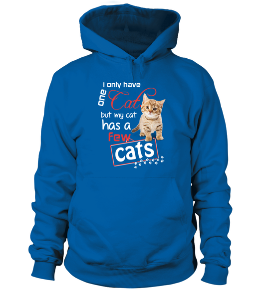 I Only Have One Cat Shirt - Giggle Rich - 1