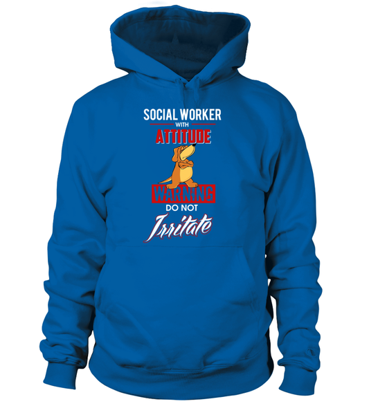 Social Worker With Attitude Shirt - Giggle Rich - 4