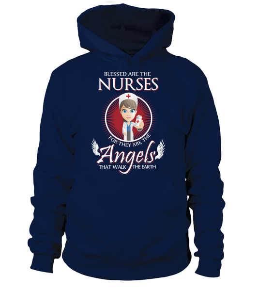 Nurses Are The Angels That Walk The Earth Shirt - Giggle Rich - 6