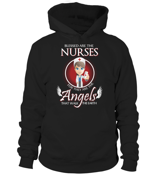 Nurses Are The Angels That Walk The Earth Shirt - Giggle Rich - 7
