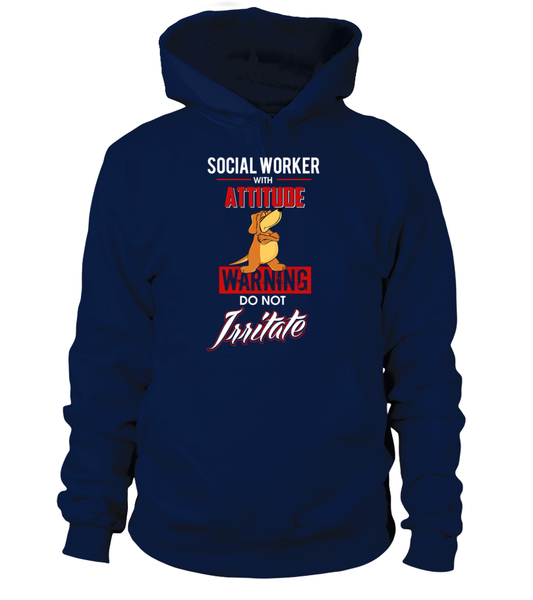 Social Worker With Attitude Shirt - Giggle Rich - 2