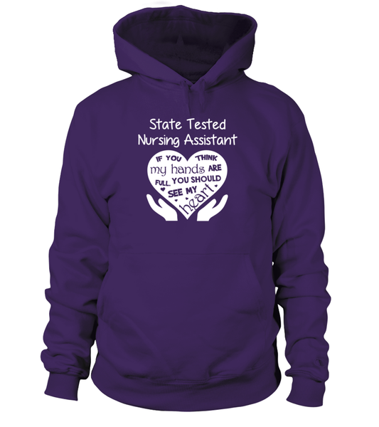 State Tested Nursing Assistant Heart Shirt - Giggle Rich - 15