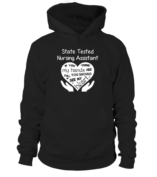 State Tested Nursing Assistant Heart Shirt - Giggle Rich - 14