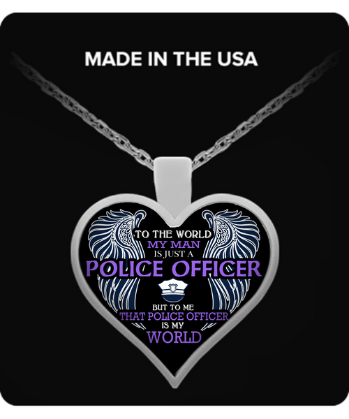 Police Officer Wife Necklace - Giggle Rich