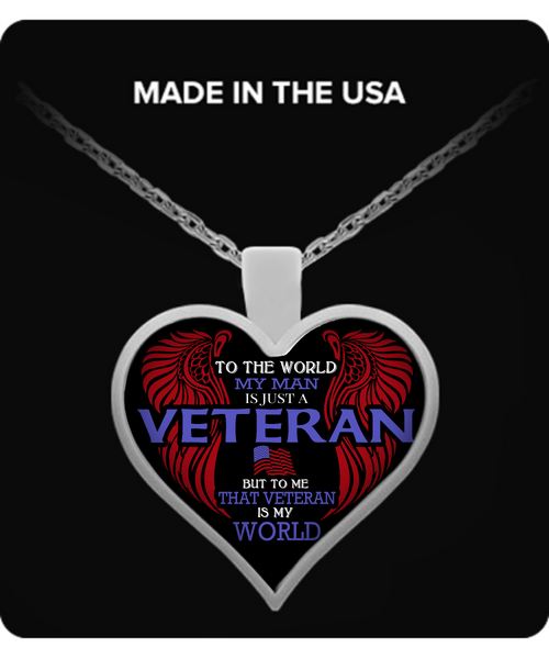 Veteran Wife - My World Necklace - Giggle Rich