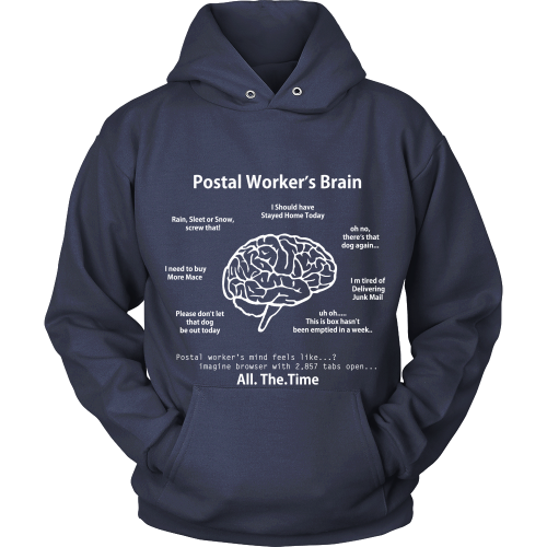 Postal Worker's Brain Shirt - Giggle Rich - 16