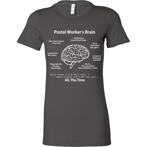 Postal Worker's Brain Shirt - Giggle Rich - 9