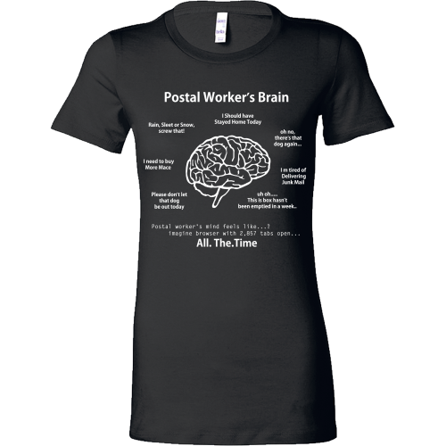Postal Worker's Brain Shirt - Giggle Rich - 6