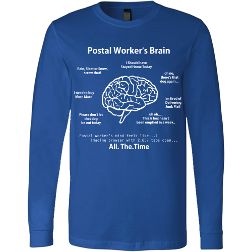 Postal Worker's Brain Shirt - Giggle Rich - 12
