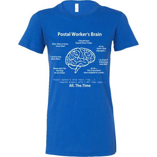 Postal Worker's Brain Shirt - Giggle Rich - 8