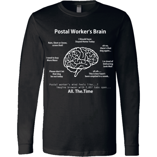 Postal Worker's Brain Shirt - Giggle Rich - 10