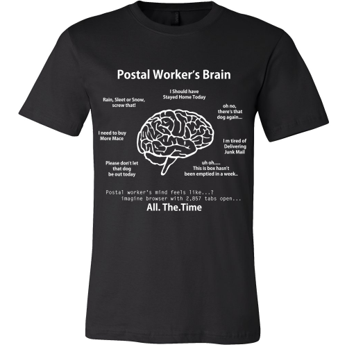 Postal Worker's Brain Shirt - Giggle Rich - 1