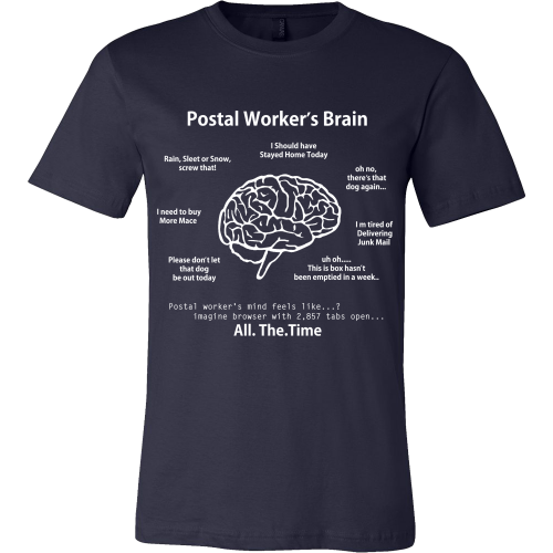 Postal Worker's Brain Shirt - Giggle Rich - 5