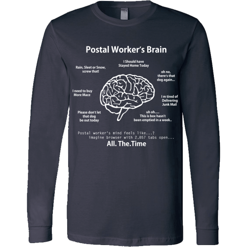 Postal Worker's Brain Shirt - Giggle Rich - 13