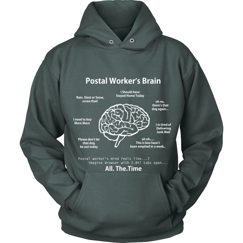 Postal Worker's Brain Shirt - Giggle Rich - 15