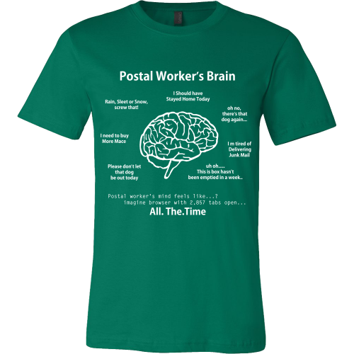 Postal Worker's Brain Shirt - Giggle Rich - 4