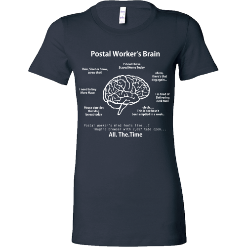Postal Worker's Brain Shirt - Giggle Rich - 7
