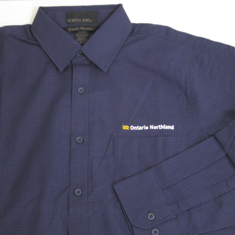 Men's Business Shirt from Ontario Northland, navy/carbon