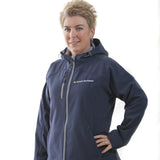 Jacket Women's from Ontario Northland, soft shell jacket with hood in navy.