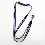 Lanyard from Ontario Northland, navy alternate view.