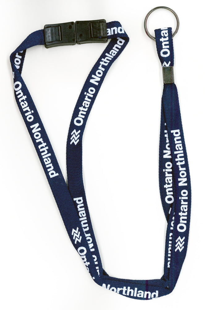 Lanyard from Ontario Northland, navy.