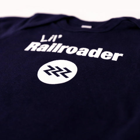 Lil's Railroader Ontario Northland chevron logo close up