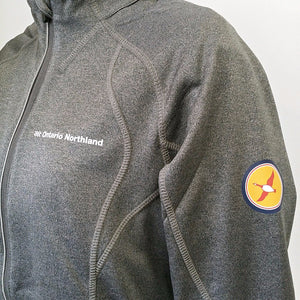 Performance jacket with reflective piping from Ontario Northland, colour greyish.
