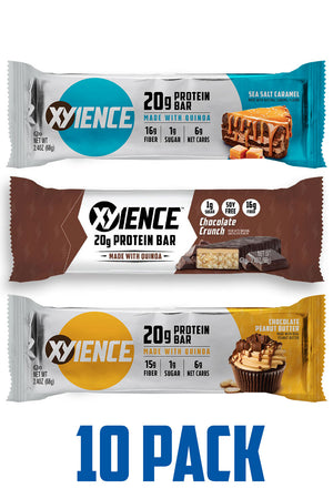 XYIENCE 20g Protein Bar 10 Pack