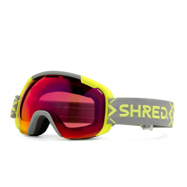 SHRED SMARTEFY BIGSHOW Yellow - CBL BLAST MIRROR Goggles