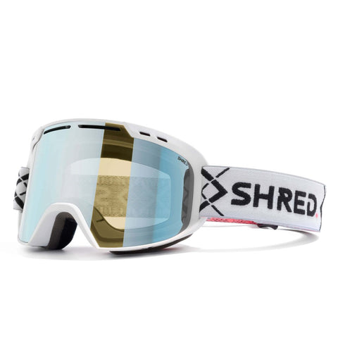 SHRED AMAZIFY BIGSHOW White - CBL SKY MIRROR Goggles