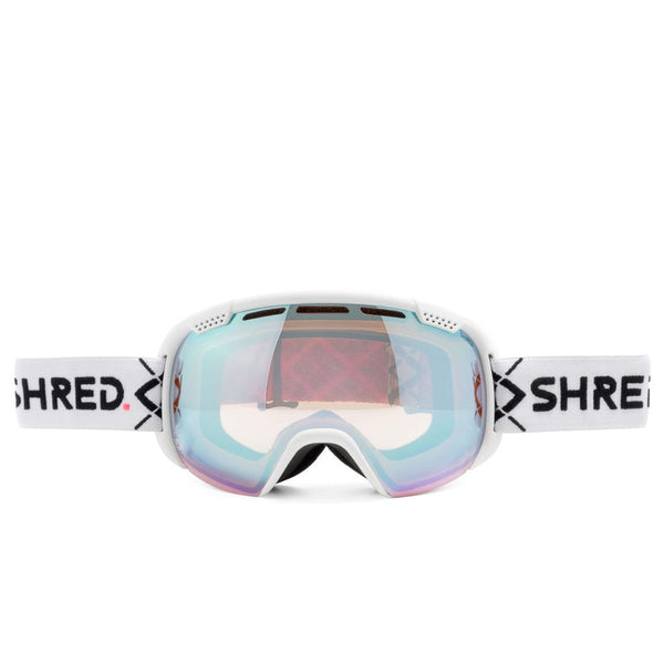 SHRED SMARTEFY BIGSHOW White - CBL SKY MIRROR Goggles