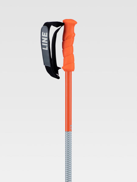 Line GRIP STICK Ski Poles 2021 - Orange/Gray