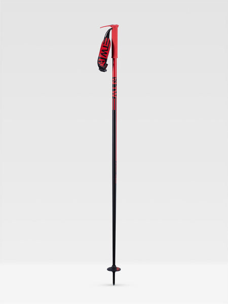 Line WALLISCHTICK Ski Poles 2021 - Red/Black