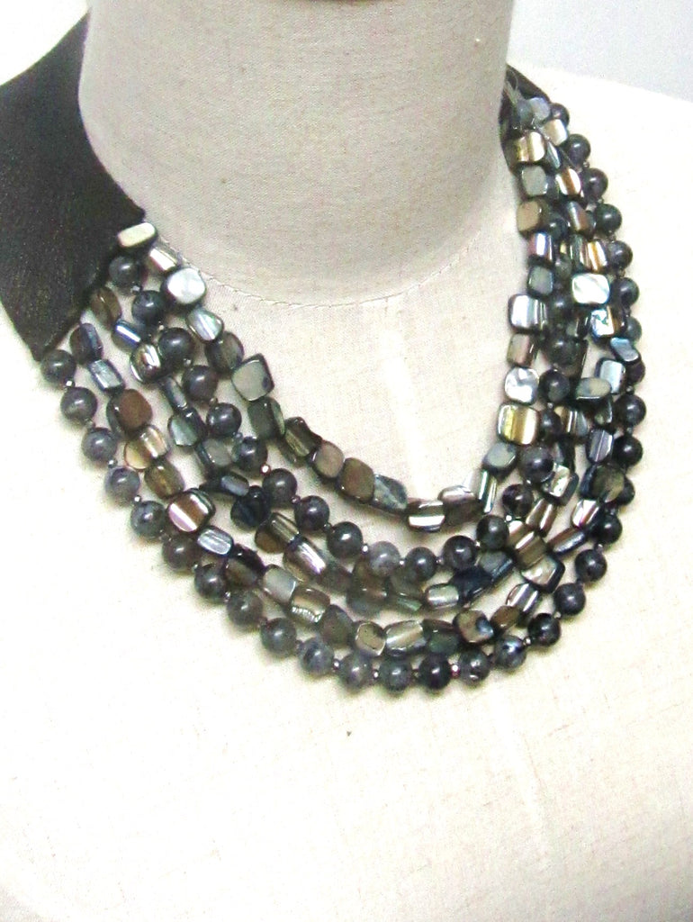 Lindero Necklace - Grey & Taupe