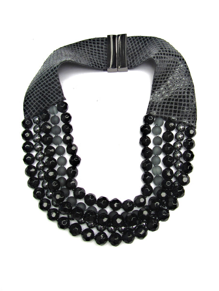 Lindero Necklace - Black & Grey