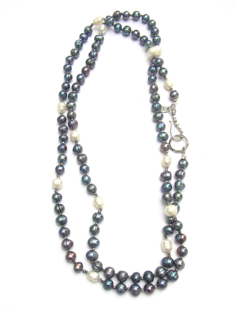 Coco Pearl Necklace, 4 Colors, 52 Inches
