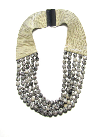Lindero Necklace - Sesame Jasper