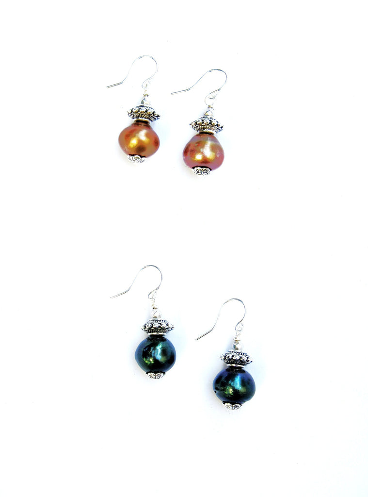 Icon Pearl Earrings, 4 Colors