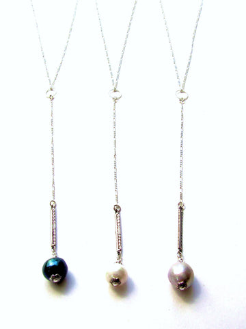 Linear Y Necklace, 5 Colors