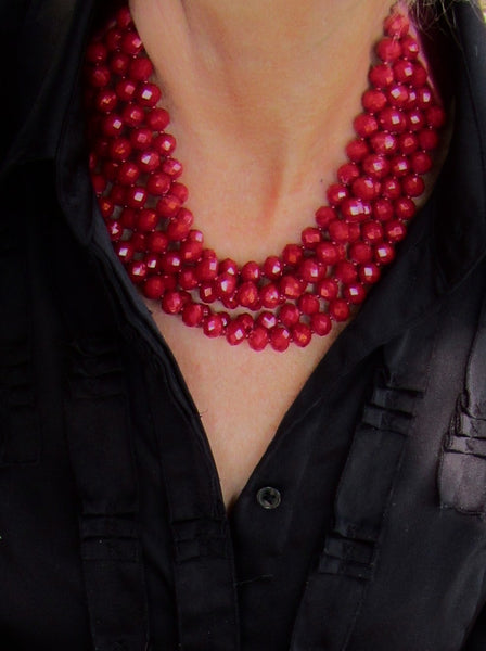 Lindero Necklace - Cranberry