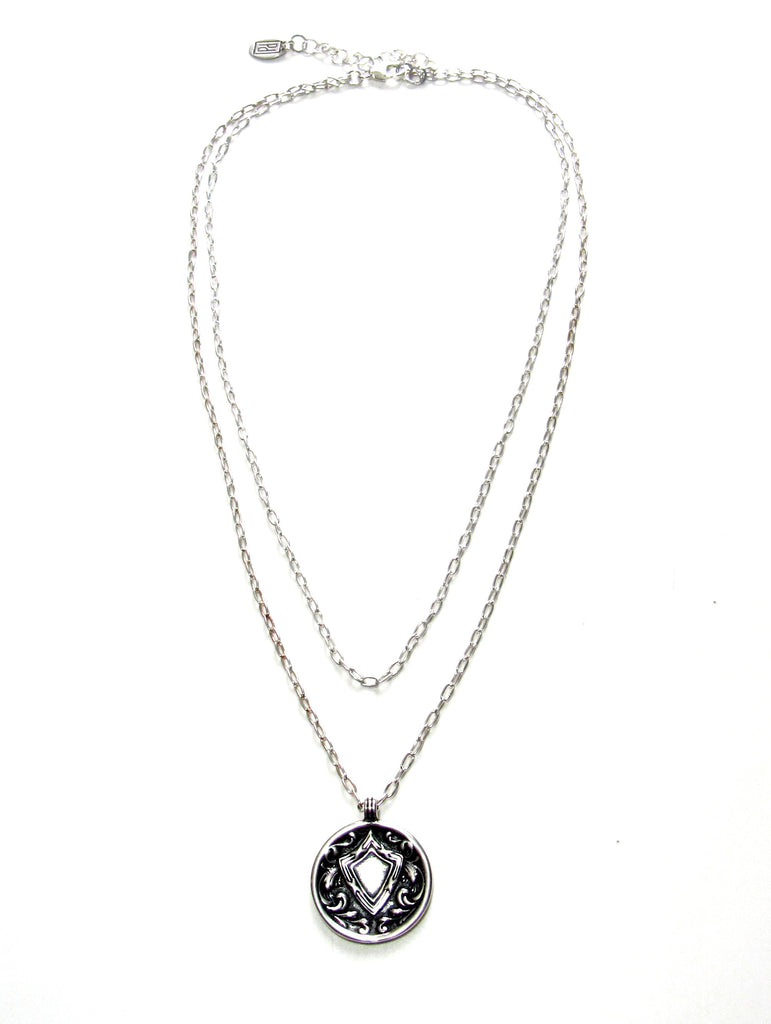 Medallion Necklace - 2 Strands