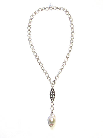 Mirage 'Y' Necklace - Baroque Pearl