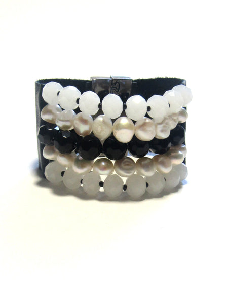 Lindero Bracelet - White & Black Mix